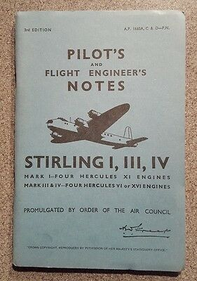 Pilots & Flight Engineers Notes Stirling 1 3 & 4 Raf Military History 1944