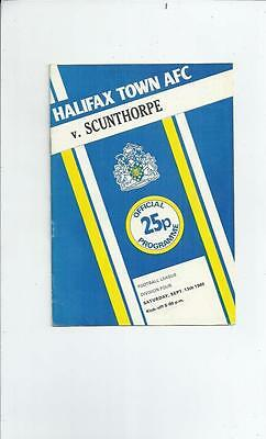Halifax Town v Scunthorpe United Football Programme 1980/81