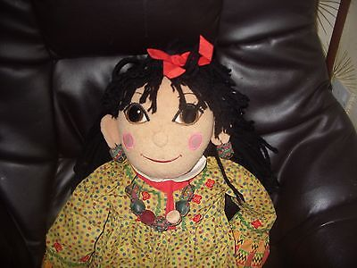 COLLECTABLE LARGE GIANT 30'' ROSIE (from Rosie & Jim childrens Tv) RAG DOLL