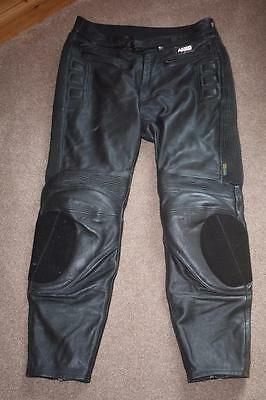 Mens Akito Leather Motorbike Trousers size 44