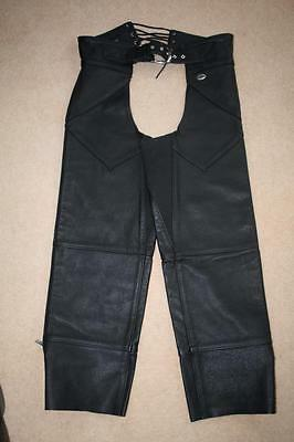 Ladies Harley- Davidson Leather Motorbike Chaps size M