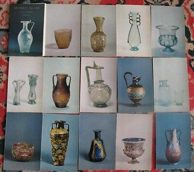 Lot 16 SET Russian POSTCARDS Old Antique Glass Card Art Vintage Vase Bowl Carafe