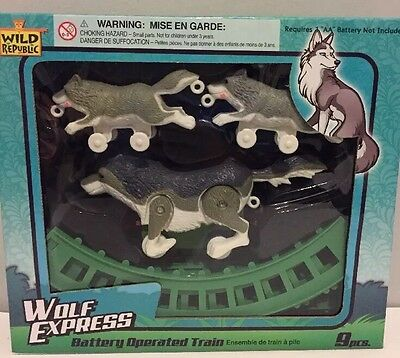 NEW WILD WOLF EXPRESS / TRAIN SET TOY £6.99 Free Postage BATTERIES INCLUDED
