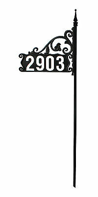 "Beautiful Reflective Address Sign Kit- Boardwalk Design includes 44-4"" Numbers"
