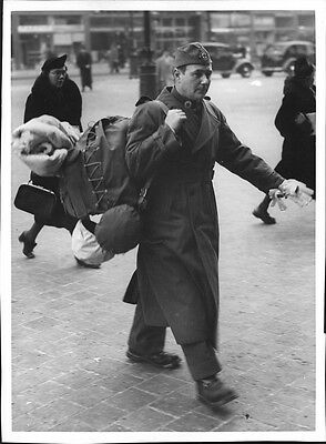 Vintage photo of A Red Cross representative traveling to join the second Finland