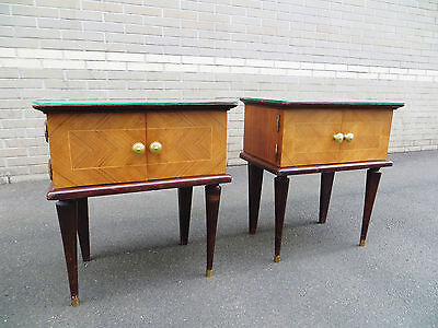 Chevets  années 50 Art Déco side tabe nightstands