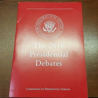 The 2016 2nd Presidential Debate Program Guide Donald Trump Hilary Clinton EY-7
