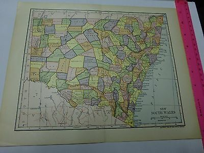 1903 Map of New South Wales, Australia -  FREE SHIPPING