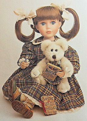 RETIRED Boyds Bears Yesterdays Child Porcelain Doll Coloring Time Olivia MIB