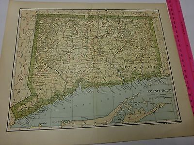 1903 Map of CONNECTICUT - FREE SHIPPING