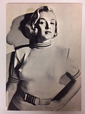 80s MARILYN MONROE POSTCARD 1950 young in polo neck