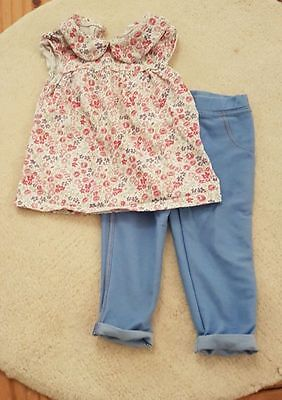 F&F 6-9 month girls top and leggings