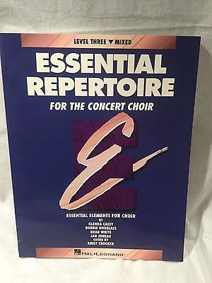 Essential Repertoire for Concert Choir Level 3 Mixed Choral Sheet Music Book