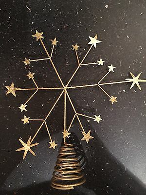 Gold Sparkle Paperchase Tree Topper