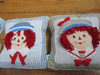 Raggedy Ann & Andy 3D Pillow Set-Charming!