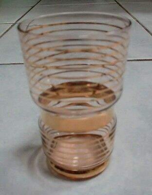 Rare Vintage Tumbler IMMACULATE Clear Blown Glass with Lots of Gold Gilding