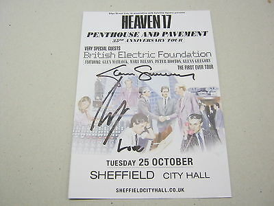 HEAVEN 17 Signed Tour Flyer Sheffield City Hall 25-10-16