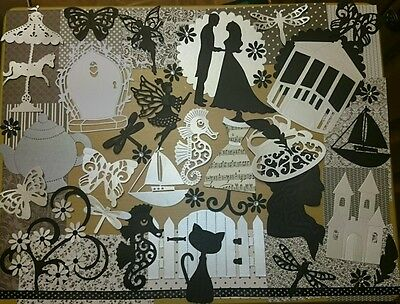 black and white  card making kit. craft clear out.