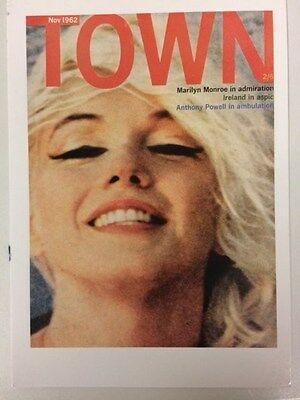 MARILYN MONROE large POSTCARD 1962 Town magazine cover