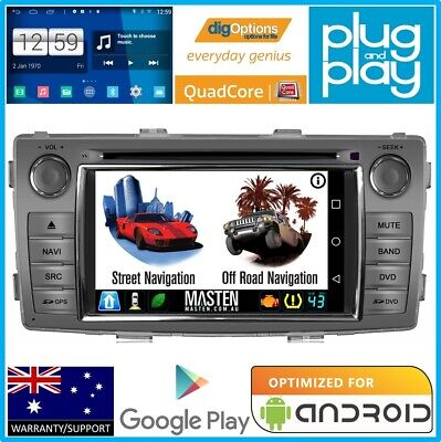 !Android GPS Stereo Sat Nav DVD Bluetooth Car Player For Toyota Hilux 2014 2015