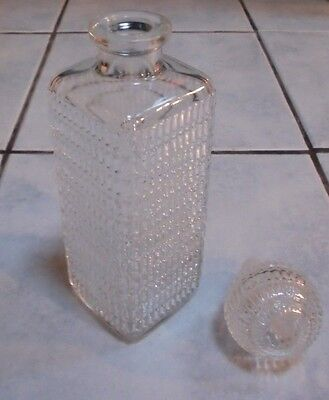 Retro Glass Decanter EXCELLENT Colourless Pressed Glass Embossed 075L HD 8