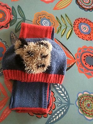 Cath Kidston Stanley Hat And Scarf Set