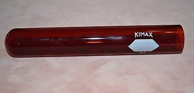 Vintage Ruby Red KIMAX Glass Test Tube