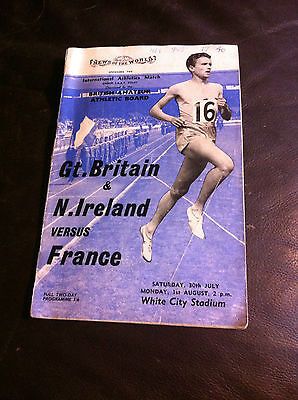 PROGRAMME - GREAT BRITAIN v NORTHERN IRELAND v FRANCE 1960 AT WHITE CITY STADIUM