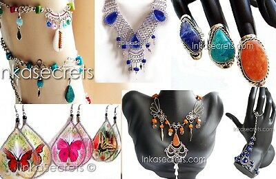 200 items, assorted  necklaces earrings rings bracelets ankle mixed designs