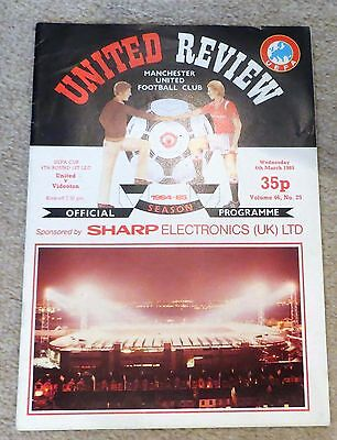1984/85 Manchester United v Videoton, UEFA Cup, Token intact