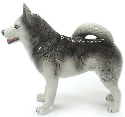Northern Rose Miniature Porcelain Animal Figure Alaskan Husky Dog R159