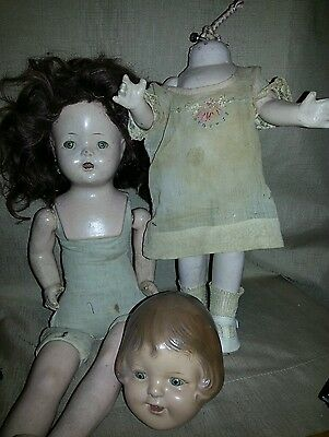 antique dolls, need repair, unmarked