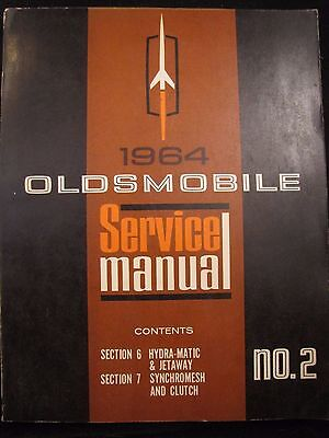 1964 Oldsmobile Service Manual # 2 Hdra-Matic & Jetway Synchromesh And Clutch