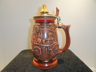 Avon Tribute To American Firefighters Beer Stein 1989 # 54888