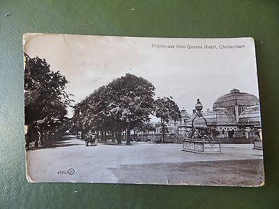 Vintage Postcard Queen's Hotel Promenade, Cheltenham Gloucestershire, Real Photo