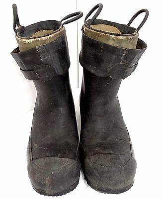SCARCE WWII 1940's A.R.P. AIR RAID WARDENS CD RUBBER PULL UP BOOTS ARP SIZE 9