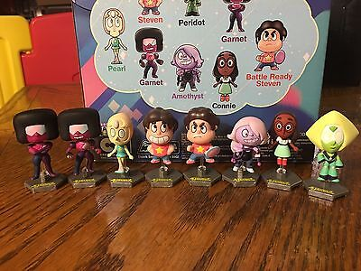 Steven Universe Mini Collectible Figures Set Of 8 Garnet Peridot Connie Amethyst
