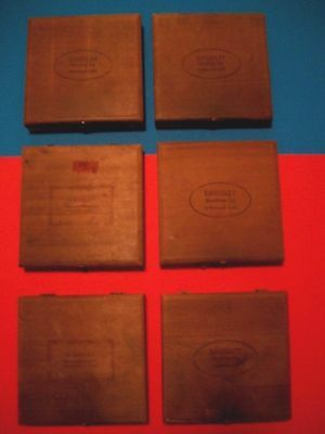 Kingsley Hot Foil Stamping Letters Type Sets 6 Boxes With Case Vintage