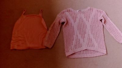 Girls Two Piece Set Jumper& Strappy Top Age 4-5 Years