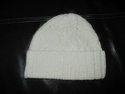 NEW FRENCH CONNECTION baby girl's alpaca wool Hat age 2 natural white