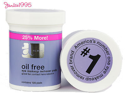 ALMAY Oil Free 100 (25% more) Eye Make Up Remover Pads OIL FREE