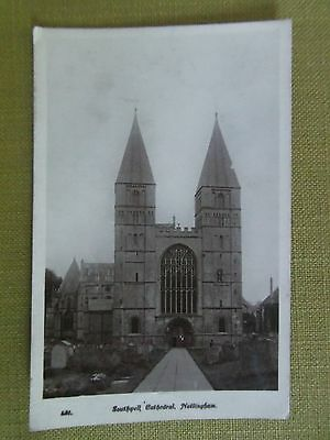 SOUTHWELL CATHEDRAL NOTTINGHAM old antique postcard England
