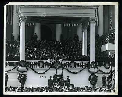 1921 Original Photo WARREN G. HARDING Makes Inaugural Address 29TH PRESIDENT gp