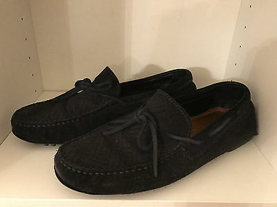 Zara Mens Shoes, Suede, navy, Loafers, Size 8 (42)