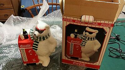Vintage Coca-Cola Polar Bear Cookie Jar/with box. Never used.