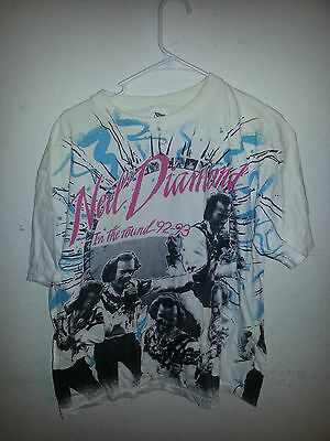 """1992-93 NEIL DIAMOND In the round Tour SOLD OUT"""" (XL) T-Shirt"""