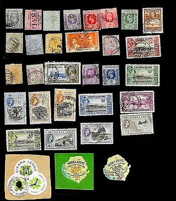 Sierra Leone  - Collection Of 32 Very Old Stamps