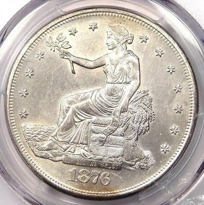 1876-S Trade Silver Dollar T$1 - PCGS Uncirculated Detail - Rare UNC BU MS Coin!