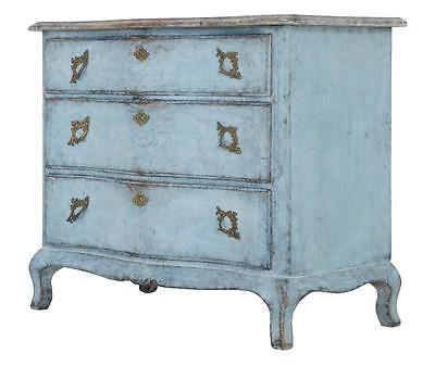 19Th Century Swedish Painted Serpentine Commode Faux Marble Top
