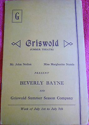 The Shining Hour Program Griswold Summer Theatre Beverly Bayne